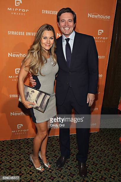 Journalist Jeff Glor attends the 2016 Mirror Awards at Cipriani 42nd Street on June 9 2016 in New York City