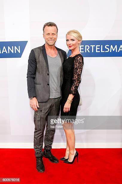 TV journalist Jenke von Wilmsdorff and his girlfriend Mia Bergmann attend the Bertelsmann Summer Party at Bertelsmann Repraesentanz on September 8...
