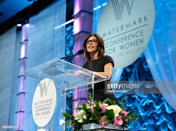 Journalist Jessica Aguirre speaks at the Watermark Conference for Women at San Jose Convention Center on February 1 2017 in San Jose California