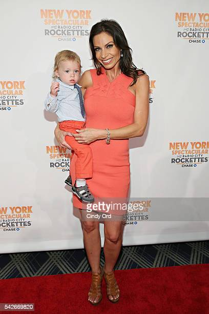 Journalist Jill Nicolini and her son Austin attend the New York Spectacular Opening Night at Radio City Music Hall on June 23 2016 in New York City