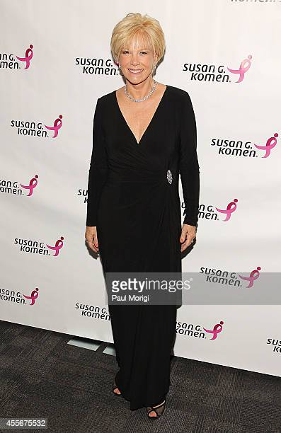 Journalist Joan Lunden hosts the 2014 Susan G Komen Honoring The Promise Gala at John F Kennedy Center for the Performing Arts on September 18 2014...