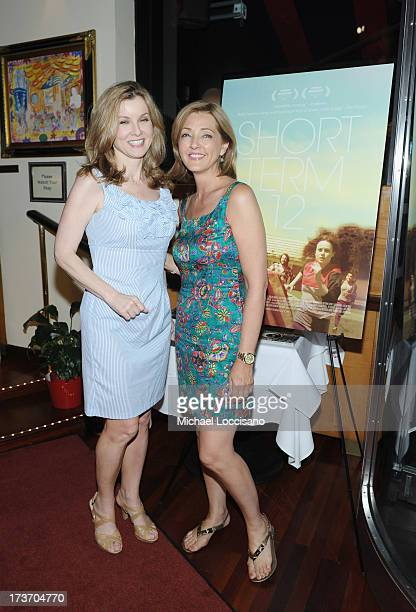Journalist Jodi Applegate and correspondent Christine Jansing attend a dinner following theShort Term 12 New York special screening at Circo on July...