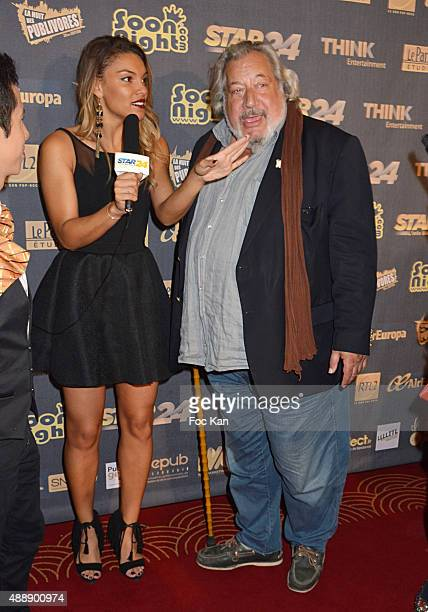 Journalist Johanna Sansano from Star 24 and Jean Claude Dreyfus attend the '35th Nuit des Publivores' at Grand Rex September 17 2015 in Paris France