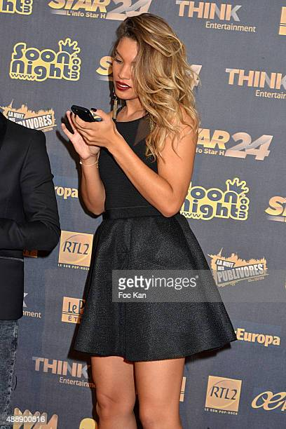Journalist Johanna Sansano from Star 24 attends the '35th Nuit des Publivores' at Grand Rex September 17 2015 in Paris France