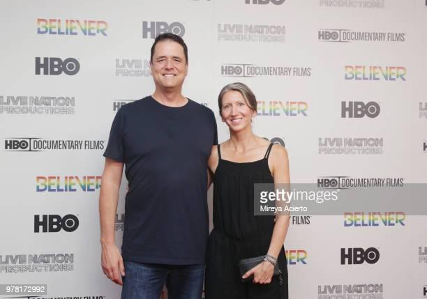 Journalist John Dehlin and Margi Weber Dehlin attend the Believer New York Premiere at Metrograph on June 18 2018 in New York City