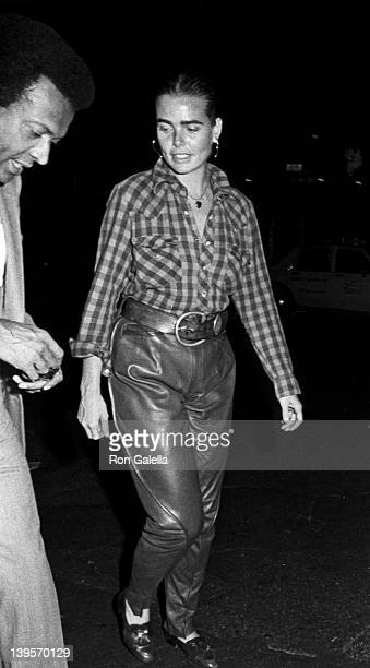 Journalist John Johnson and actress Margaux Hemingway sighted on October 9, 1984 at Elaine's Restaurant in New York City.