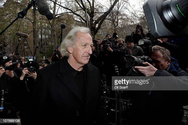Journalist John Pilger arrives at Westminster Magistrates court as Wikileaks founder Julian Assange appeals for bail on December 14, 2010 in London,...