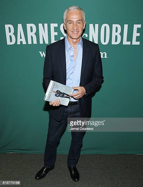 Journalist Jorge Ramos attends a book signing for his new book Take A Stand Lessons From Rebels at Barnes Noble Union Square on March 15 2016 in New...