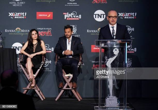 Journalist Juan Carlos Ariciniegas speaks during the 5th Annual Premios PLATINO Of Iberoamerican Cinema Nominations Announcement at Hollywood...