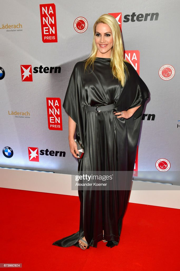 Journalist Judith Rakers attends the Nannen Award 2017 on April 27, 2017 in Hamburg, Germany.