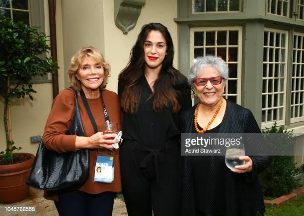 Journalist Judy Licht Emi Caligiuri and musician Arlene Alda attend the Reception for Alan Alda at Baker House on October 4 2018 in East Hampton New...