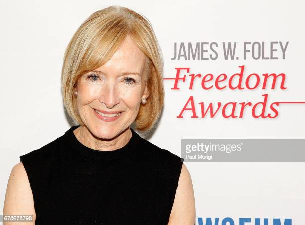 Journalist Judy Woodruff attends the 2017 James W Foley Freedom Awards at the Newseum on May 1 2017 in Washington DC The James W Foley Legacy...