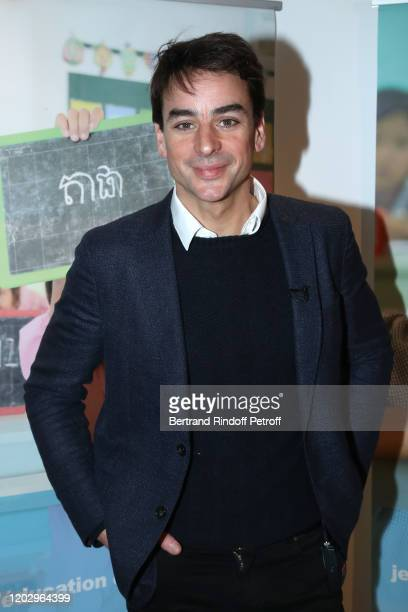 Journalist Julian Bugier attends the Levons le Doigt pour l'Education des Filles Closing Conference at We Are on January 30 2020 in Paris France