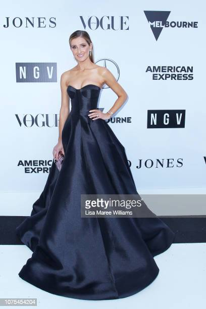 Journalist Kate Waterhouse attends the NGV International sponsored by American Express on December 01 2018 in Melbourne Australia