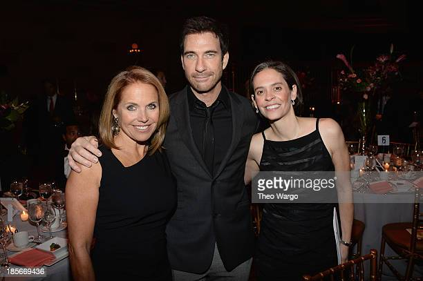 Journalist Katie Couric actor Dylan McDermott and Executive Director Somaly Mam Foundation Gina ReissWilchins attend the Somaly Mam Foundation Gala...