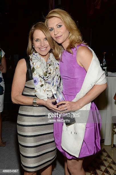 Journalist Katie Couric and actress Claire Danes attend Variety Power Of Women New York presented by FYI at Cipriani 42nd Street on April 25 2014 in...