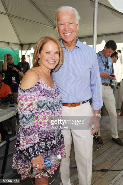 Journalist Katie Couric and Former Vice President Joe Biden attend OZY FEST 2017 Presented By OZYcom at Rumsey Playfield on July 22 2017 in New York...