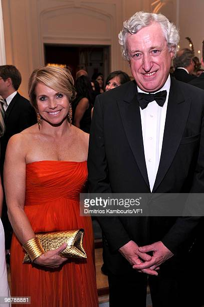 Journalist Katie Couric and French Ambassador Pierre Vimont attend the Bloomberg/Vanity Fair party following the 2010 White House Correspondents'...