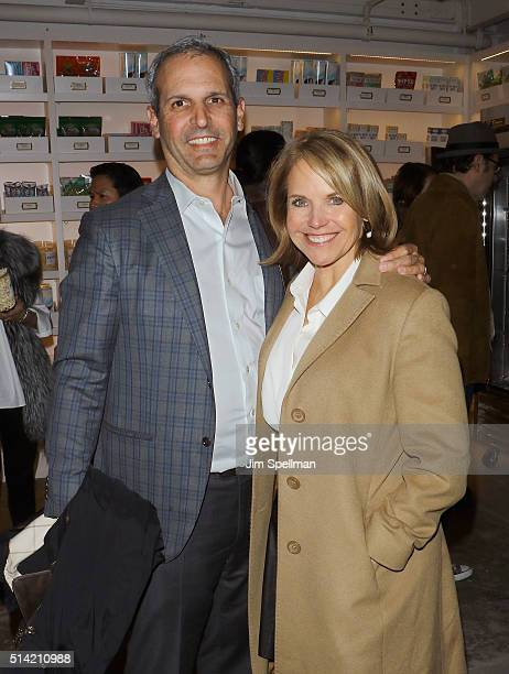 Journalist Katie Couric and husband John Molner attend Roadside Attractions with The Cinema Society Belvedere Vodka host The New York premiere of...
