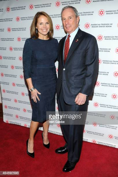 Journalist Katie Couric and Mayor Michael Bloomberg attend American Friends of Magen David Adom's Annual New York Benefit Dinner at The Lighthouse at...
