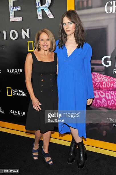 Journalist Katie Couric and model Hari Nef attend as National Geographic hosts the world premiere screening of 'Gender Revolution A Journey With...