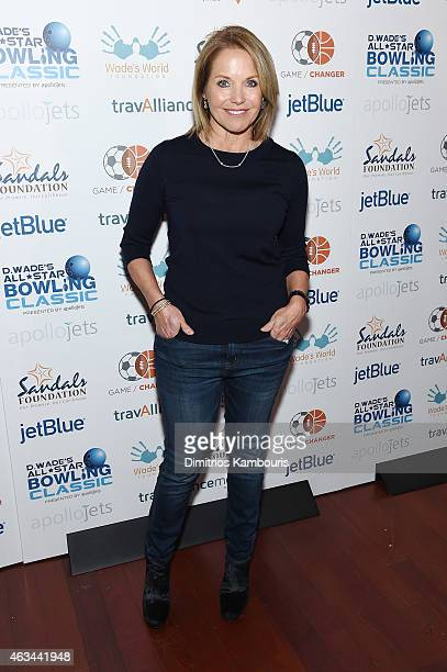 Journalist Katie Couric attends Dwyane Wade's AllStar Bowling Classic hosted by the Sandals Foundation on February 14 2015 in New York City