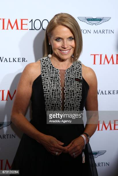 Journalist Katie Couric attends the 2017 TIME 100 Gala at Jazz at Lincoln Center in New York United States on April 25 2017