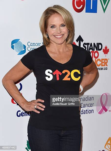 Journalist Katie Couric attends the 4th Biennial Stand Up To Cancer A Program of The Entertainment Industry Foundation at Dolby Theatre on September...
