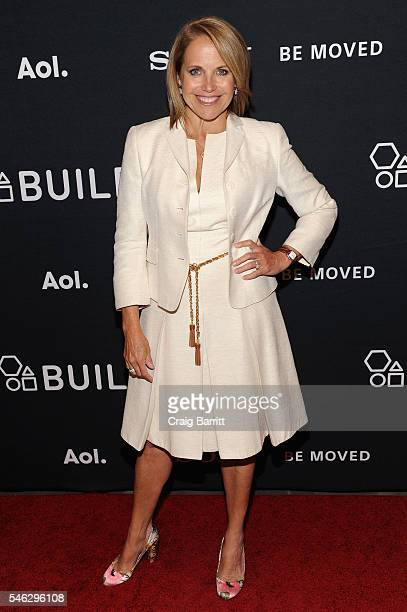 Journalist Katie Couric attends the AOL Build Makers and Sony Celebrate Women Creators Panel at Paley Center For Media on July 11 2016 in New York...