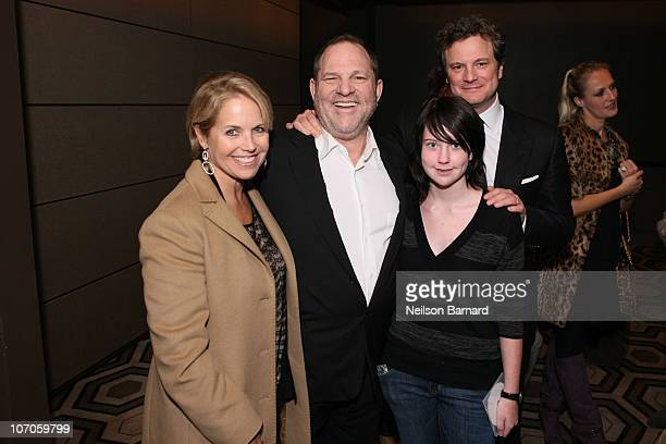 Journalist Katie Couric Harvey Weinstein Lili Weinstein and actor Colin Firth attend a special screening of The Weinstein Company's The King's Speech...