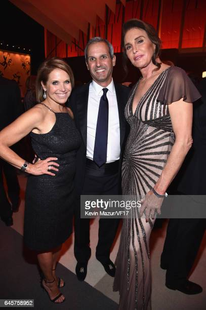 Journalist Katie Couric John Molner and TV personality Caitlyn Jenner attends the 2017 Vanity Fair Oscar Party hosted by Graydon Carter at Wallis...