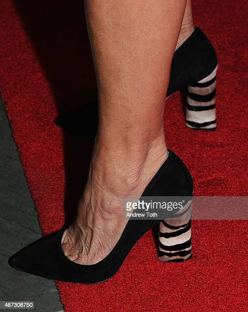 Journalist Katie Couric shoe detail attends the 'Mad Men' New York special screening at The Museum of Modern Art on March 22 2015 in New York City