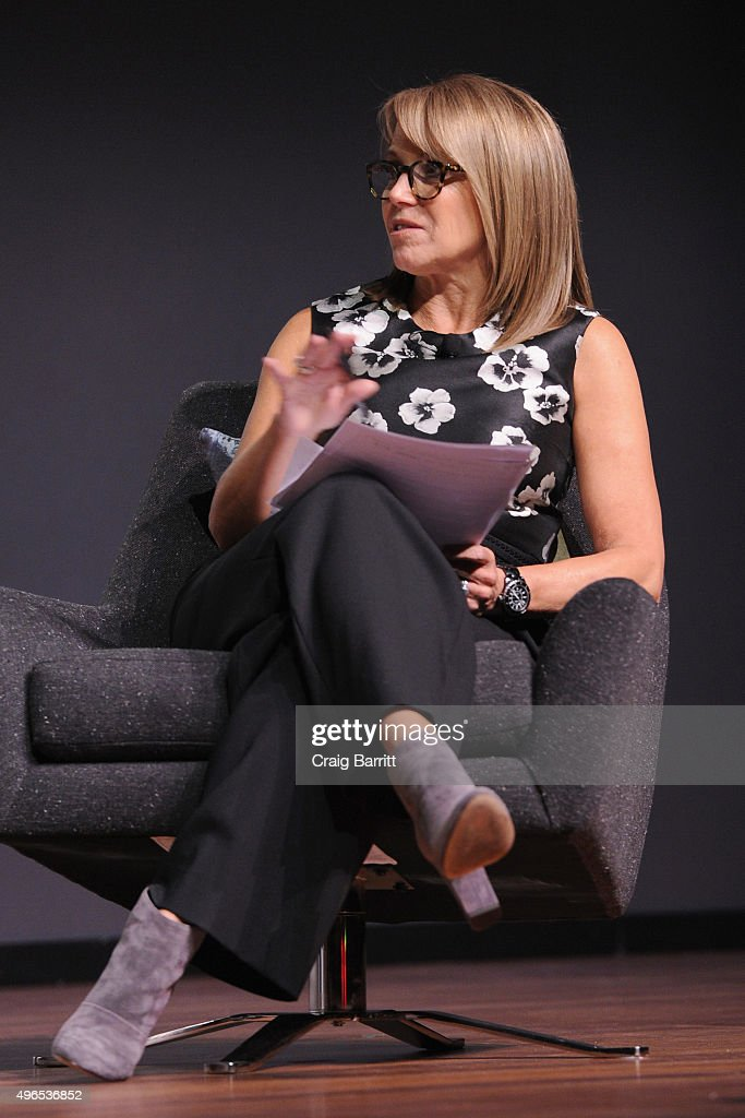 Journalist Katie Couric speaks during 'The Business Of Goop With Gwyneth Paltrow And Lisa Gersh, CEO Of Goop, Moderated By Yahoo's Katie Couric' at The Fast Company Innovation Festival on November 10, 2015 in New York City.