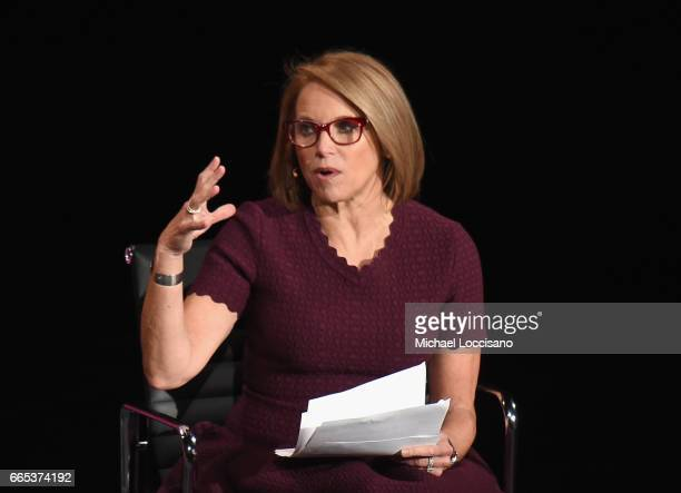 Journalist Katie Couric speaks during the Eighth Annual Women In The World Summit at Lincoln Center for the Performing Arts on April 6 2017 in New...