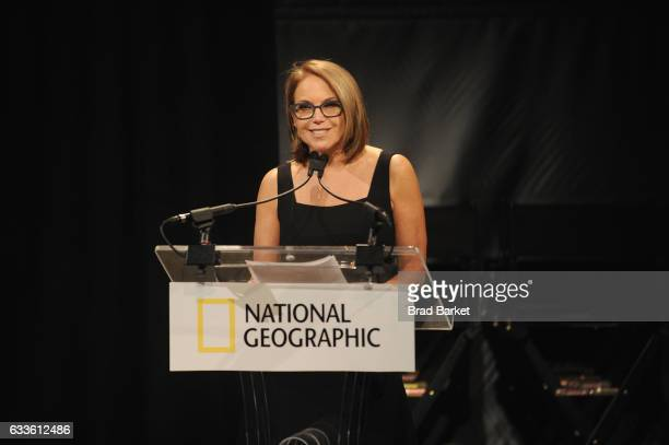 Journalist Katie Couric speaks onstage as National Geographic hosts the world premiere screening of 'Gender Revolution A Journey With Katie Couric'...