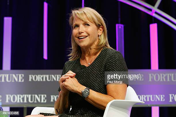 Journalist Katie Couric speaks onstage during Fortune's Most Powerful Women Summit Day 1 at the Mandarin Oriental Hotel on October 12 2015 in...