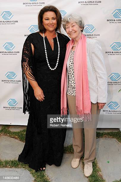 Journalist Keely Brosnan and guest arrive at the Ziggy Marley Benefit Performance for the Boys Girls Club of Malibu on June 2 2012 in Malibu...