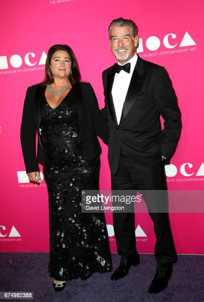 Journalist Keely Shaye Smith and actor Pierce Brosnan attend the 2017 MOCA Gala at The Geffen Contemporary at MOCA on April 29 2017 in Los Angeles...