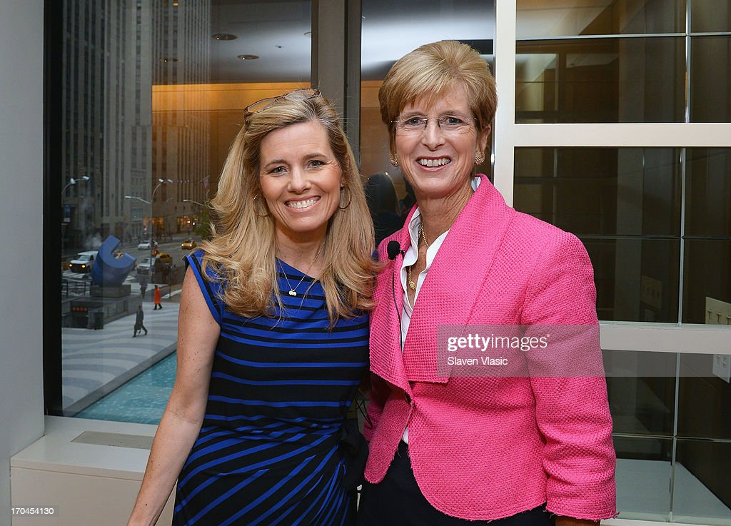 Journalist Kelly Wallace (L) and former N.J. Governer Christine Todd Whitman attend 'Make One Simple Change' panel and breakfast at Time-Life Building on June 13, 2013 in New York City.