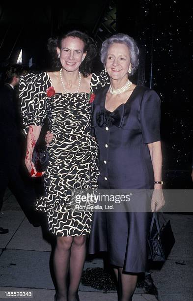 Journalist Lally Weymouth and publisher Katharine Graham attend 20th Anniversary Party for New York Magazine on April 18 1988 at the Cloud Club in...