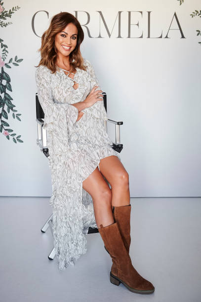 ESP: Lara Alvarez Presents Carmela's Latest Collection In Madrid