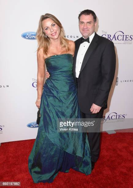 Journalist Lara Logan and Joseph Burkett attend the 42nd Annual Gracie Awards Gala hosted by The Alliance for Women in Media at the Beverly Wilshire...
