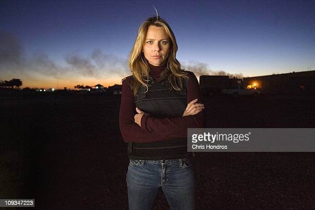 Journalist Lara Logan of CBS News appears in Camp Victory in Baghdad Iraq November 17 2006