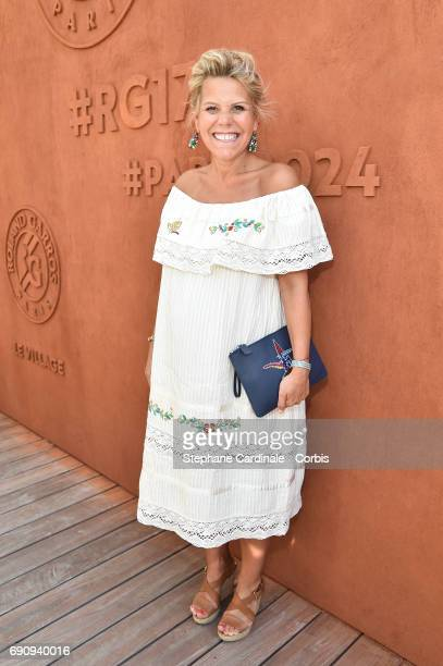 Journalist Laura Tenoudji aka Laura du Web attends the 2017 French Tennis Open Day Four at Roland Garros on May 31 2017 in Paris France