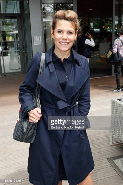 Journalist Laura Tenoudji attends the 2019 French Tennis Open Day Two at Roland Garros on May 27 2019 in Paris France