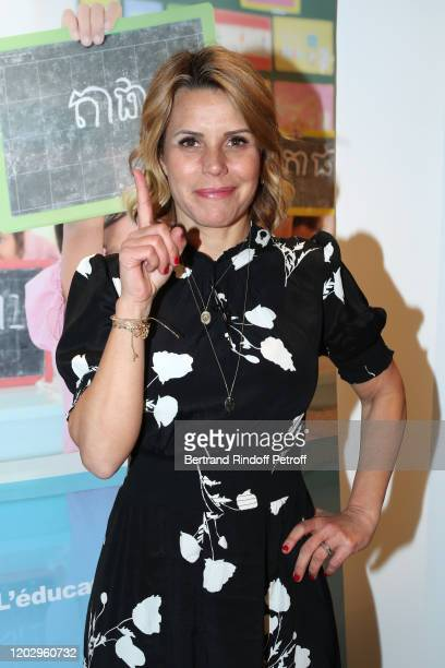 Journalist Laura Tenoudji attends the Levons le Doigt pour l'Education des Filles Closing Conference at We Are on January 30 2020 in Paris France