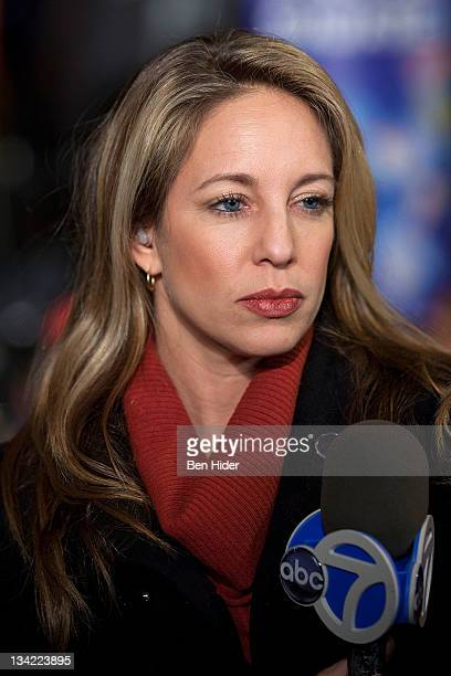 Journalist Lauren Glassberg from Eyewitness News attends the Lincoln Square Business Improvement District's 12th annual Winter's Eve on November 28...