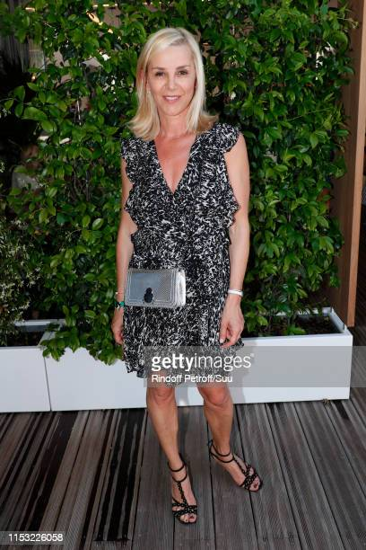 Journalist Laurence Ferrari attends the 2019 French Tennis Open Day Eight at Roland Garros on June 02 2019 in Paris France