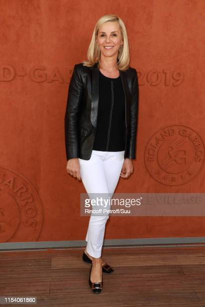 Journalist Laurence Ferrari attends the 2019 French Tennis Open Day Twelve at Roland Garros on June 06 2019 in Paris France