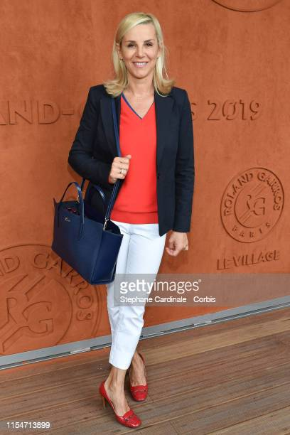 Journalist Laurence Ferrari attends the 2019 French Tennis Open Day Fourteen at Roland Garros on June 08 2019 in Paris France